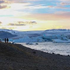 Jökulsárlón glacial lagoon at sunset, Iceland south coast
