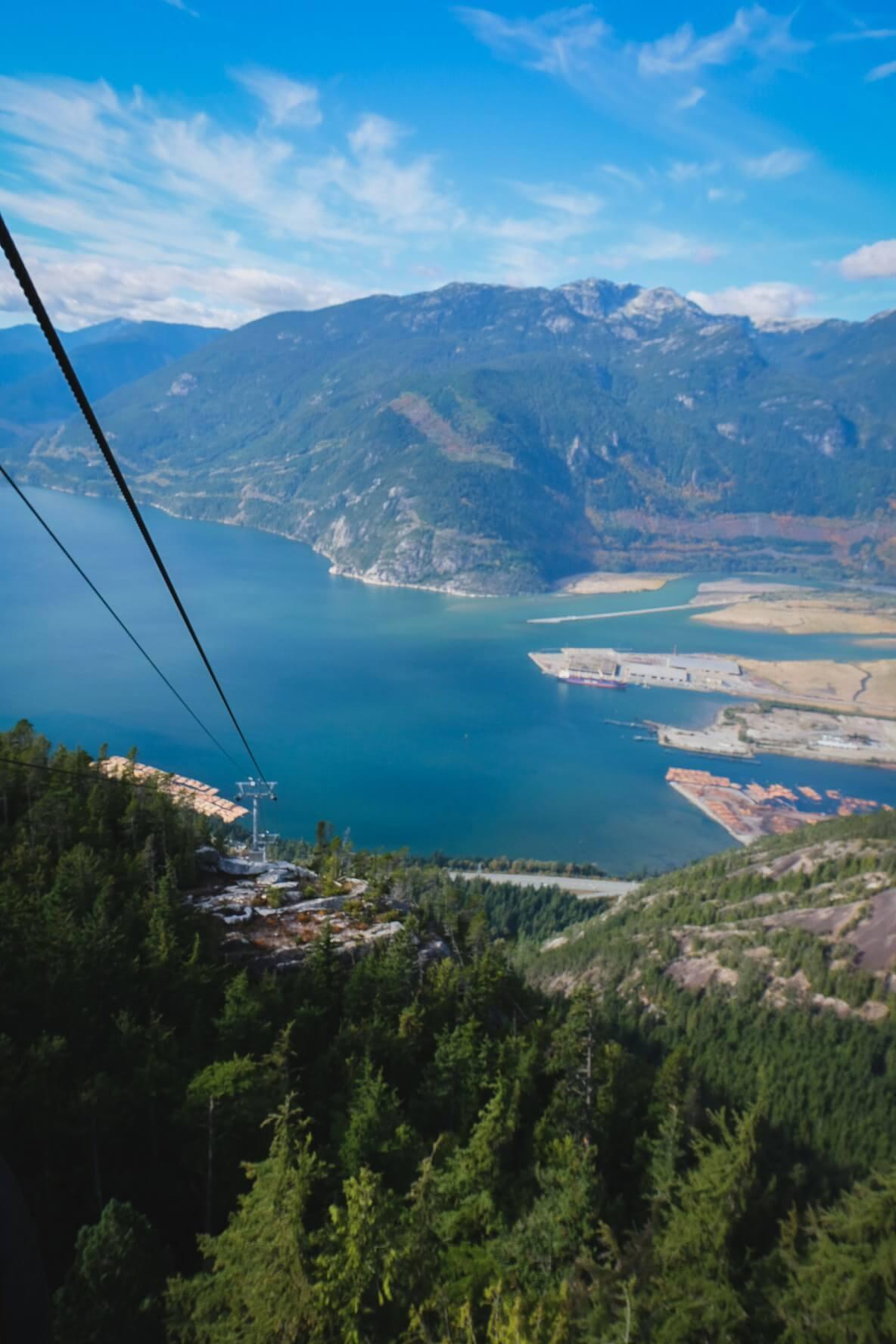 Sea to Sky Gondola views in British Columbia