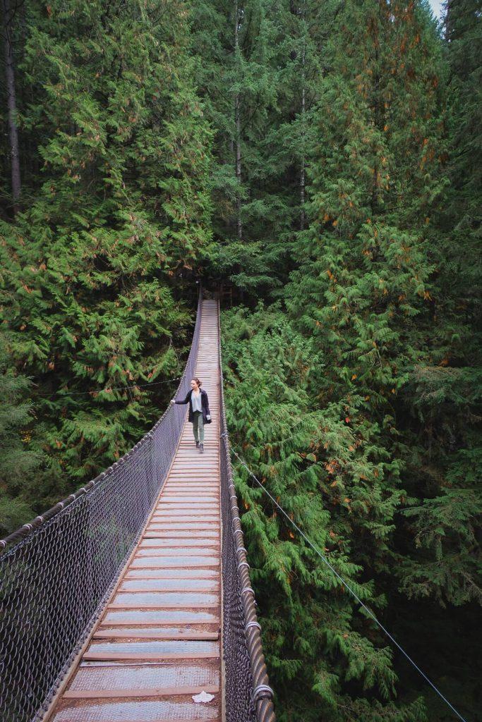 Suspension Bridge around Vancouver British Columbia