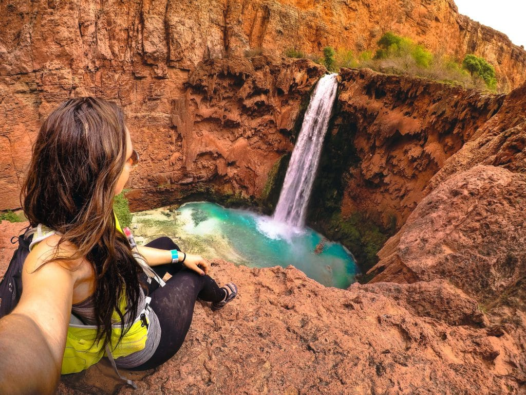 The hike down Mooney Falls is not for the faint of heart