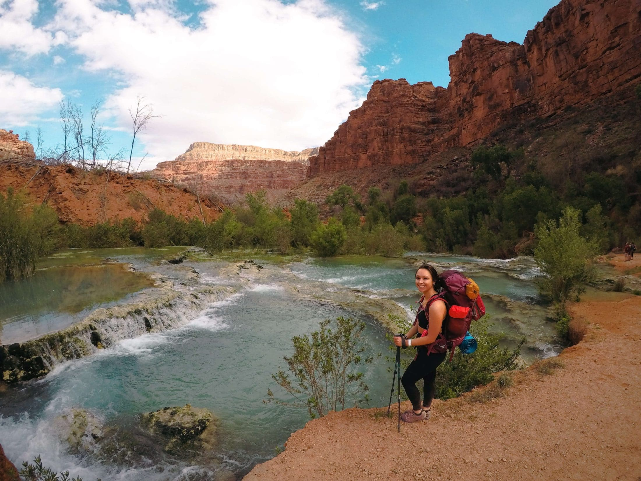 The trail to the Havasupai campground