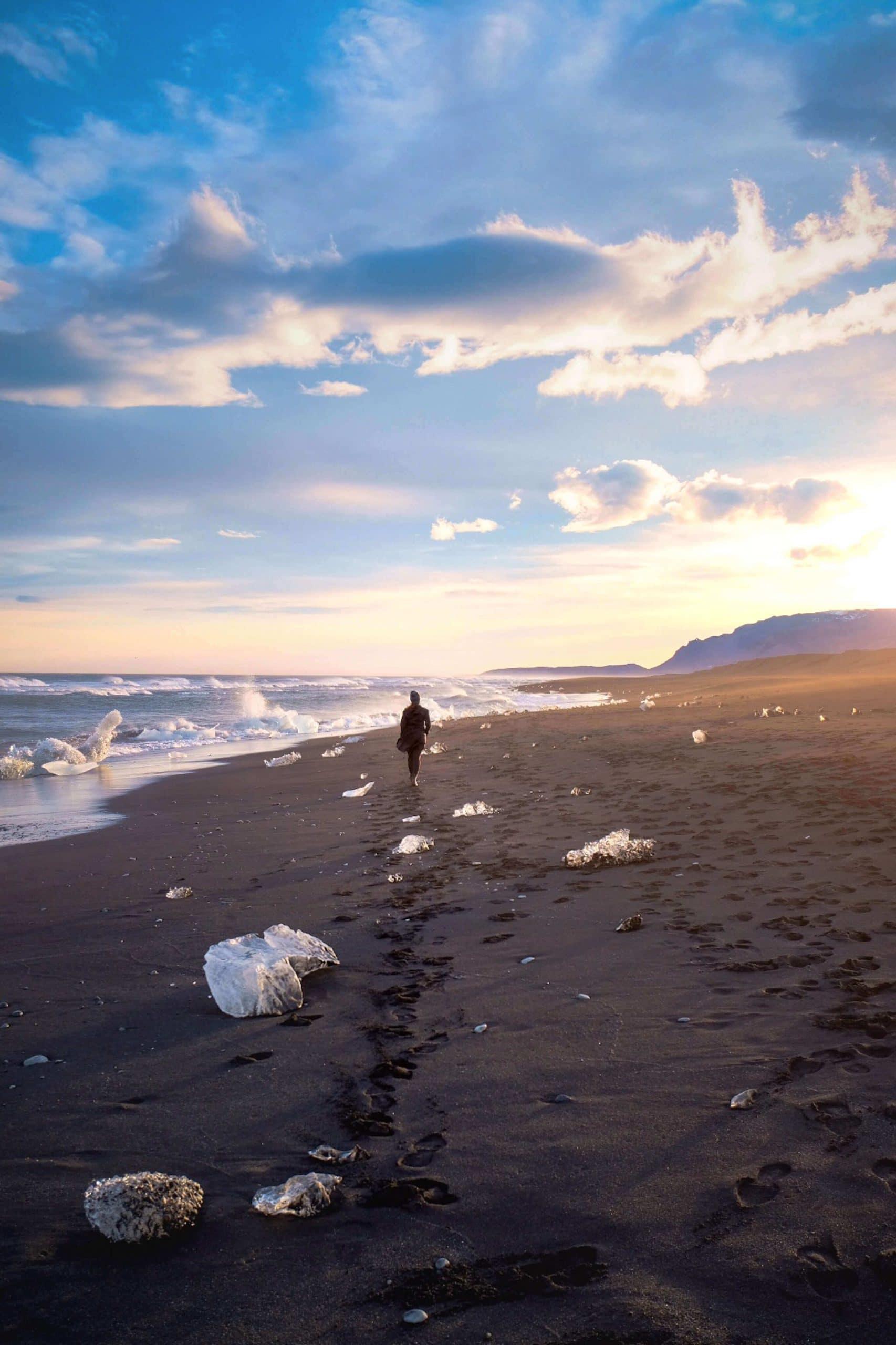 Diamond Beach at sunset