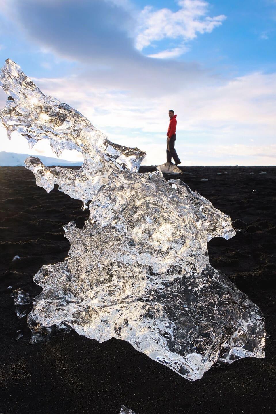 Icebergs on Diamond Beach, Iceland