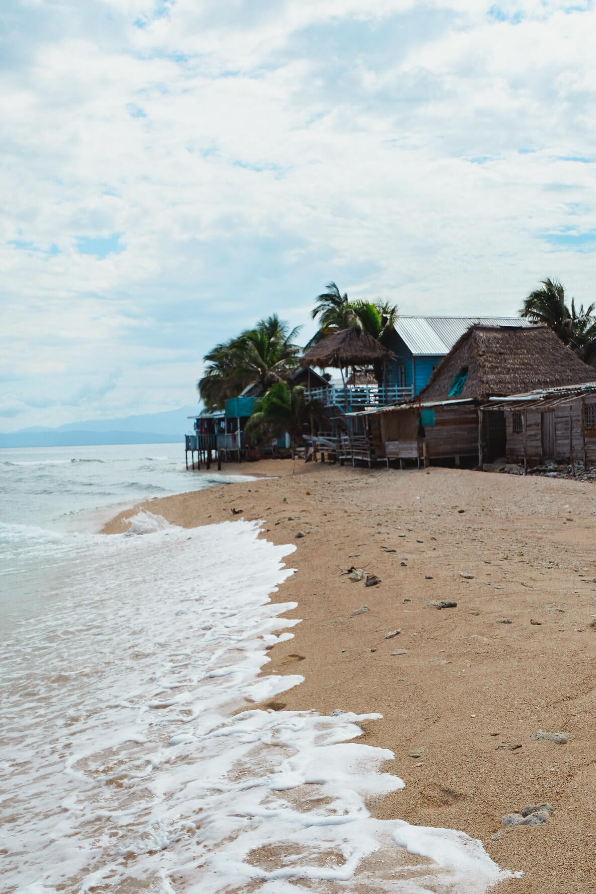 The Garifuna Village on Chachahuate Cay in Cayos Cochinos
