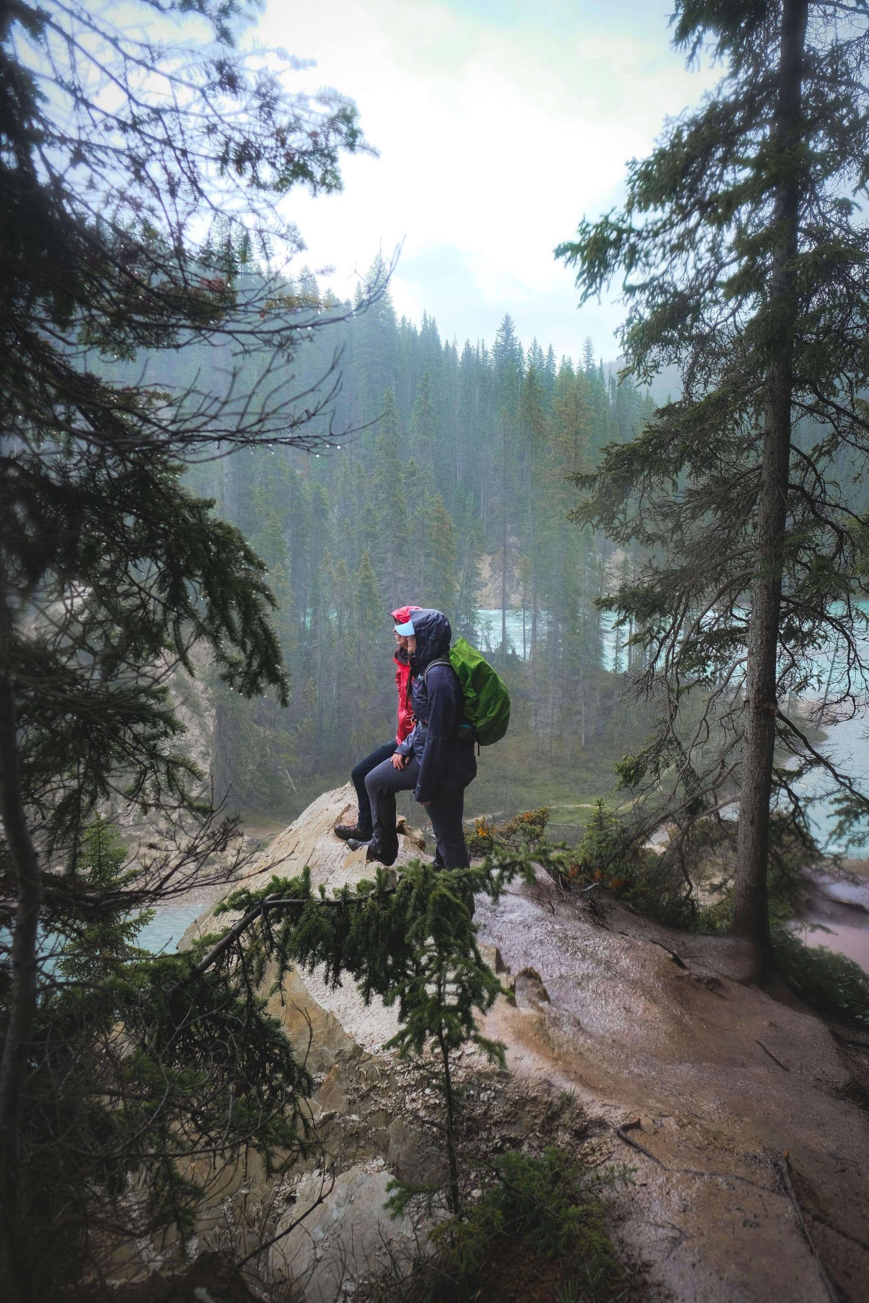 Hiking to the bottom of Wapta Falls