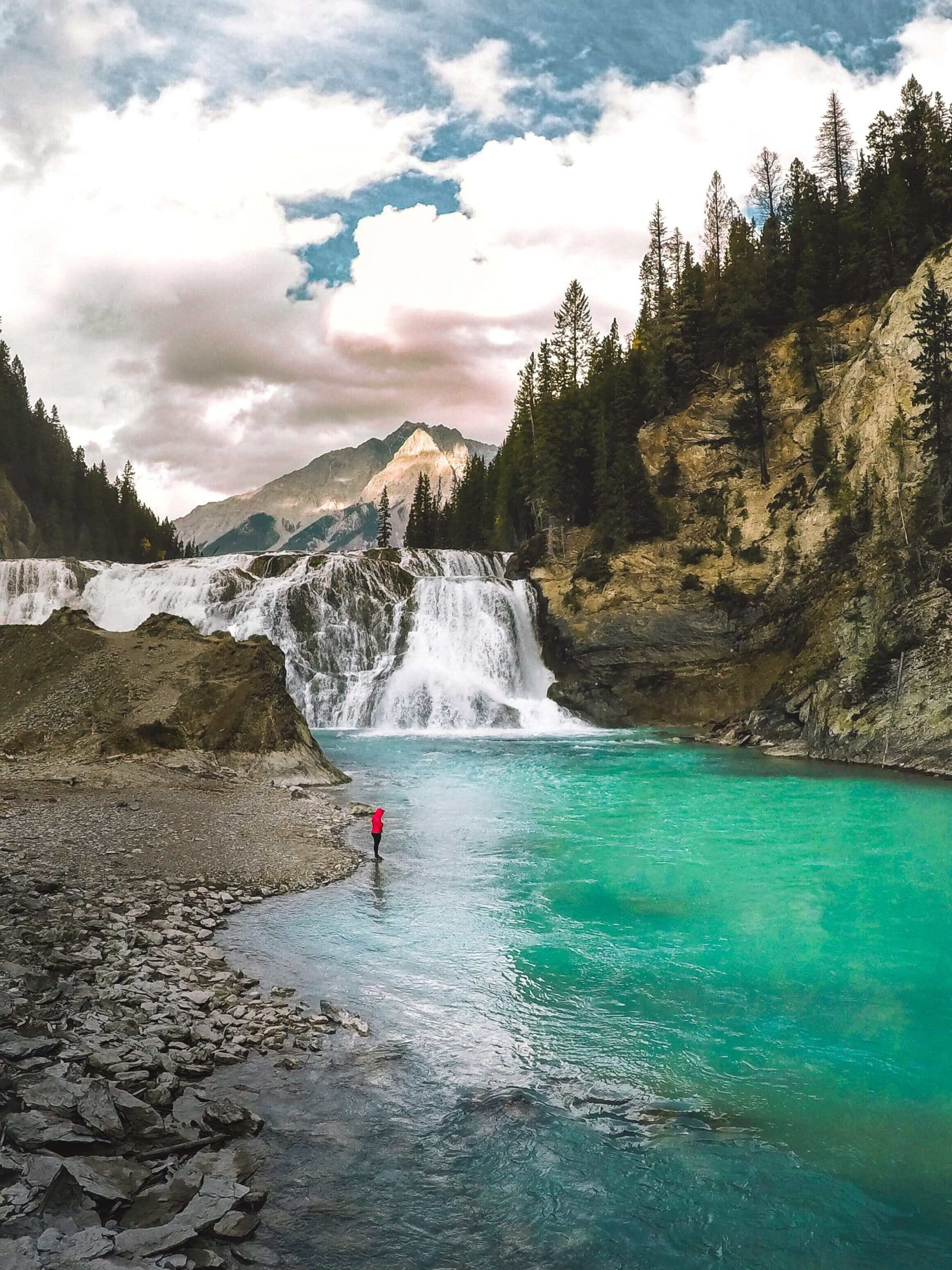 Hiking to the bottom of Wapta Falls, seeing Yoho National Park in one day