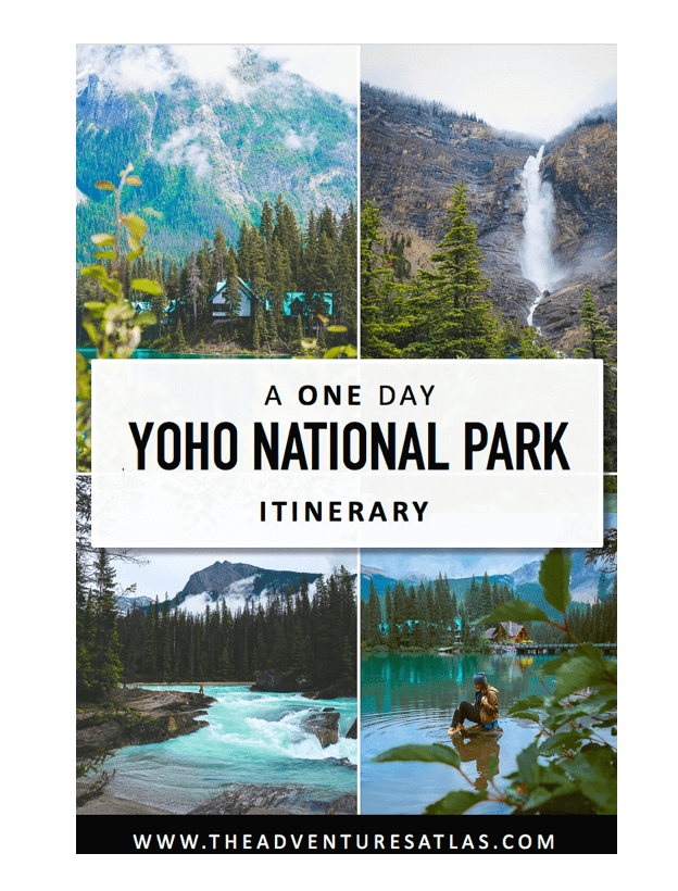 One Day Itinerary for Yoho National Park