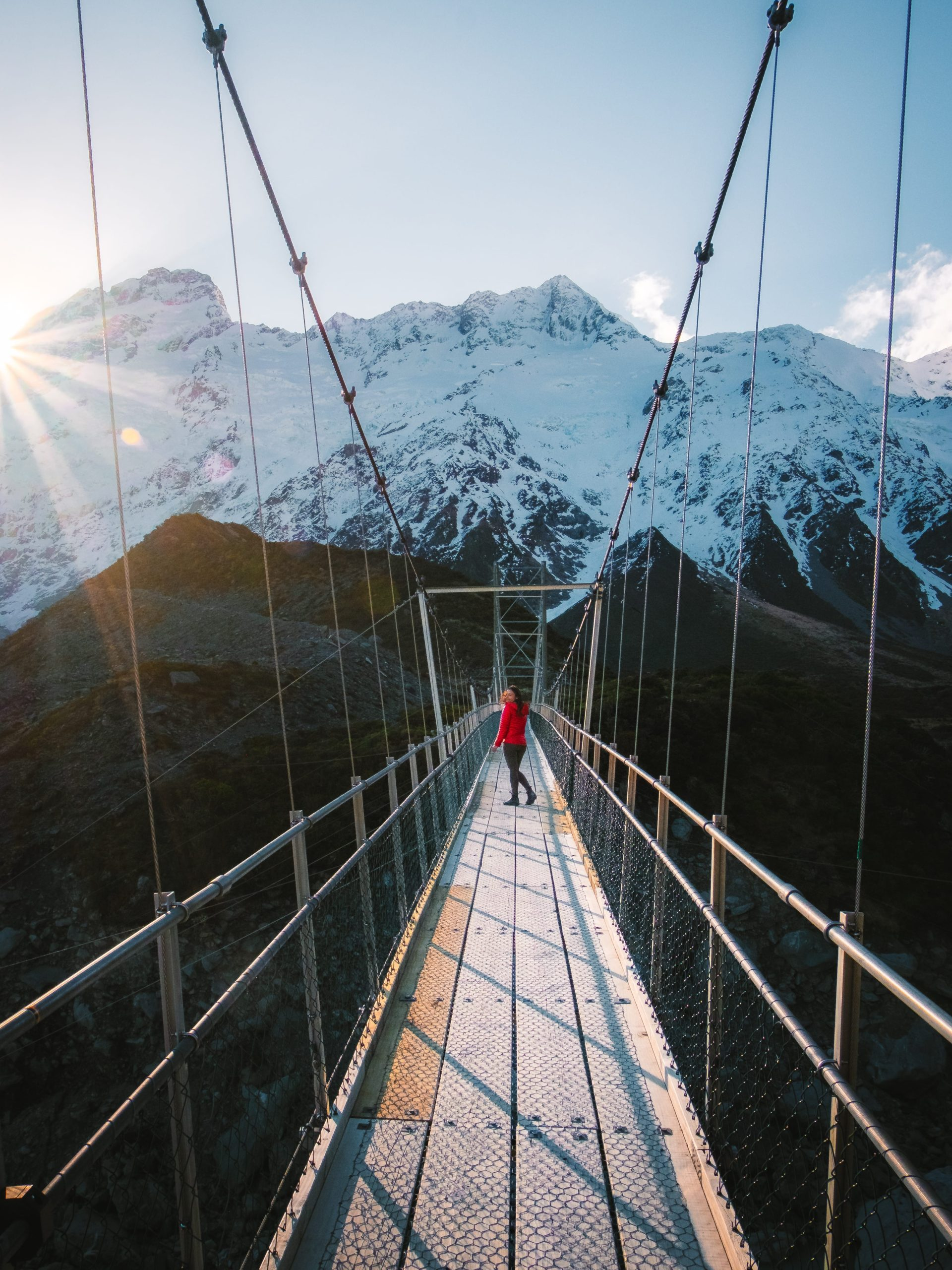 Hooker Valley Track is one of the best hiking trails in Mt Cook National Park, South Island