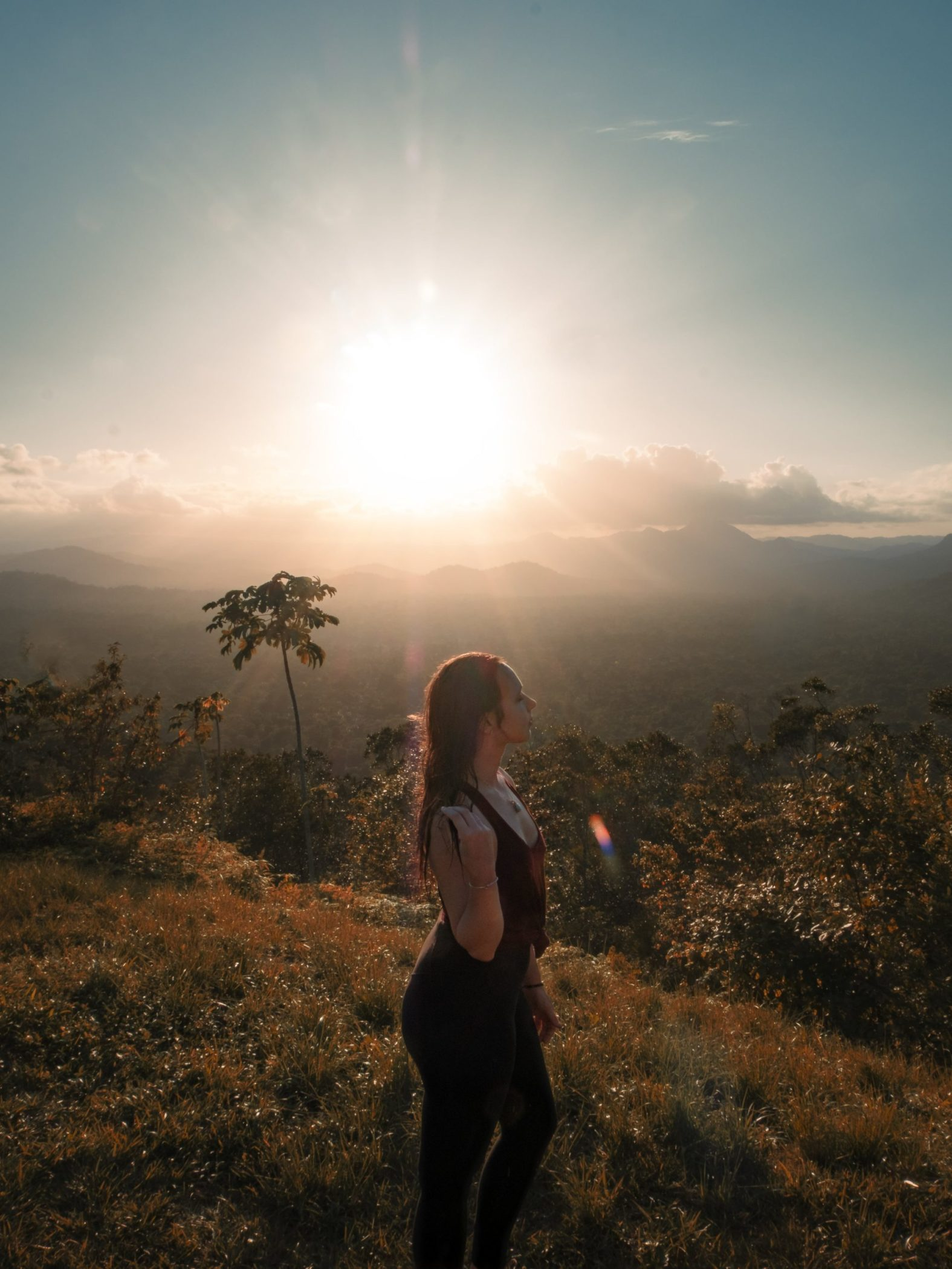 Sunset hike in Belize