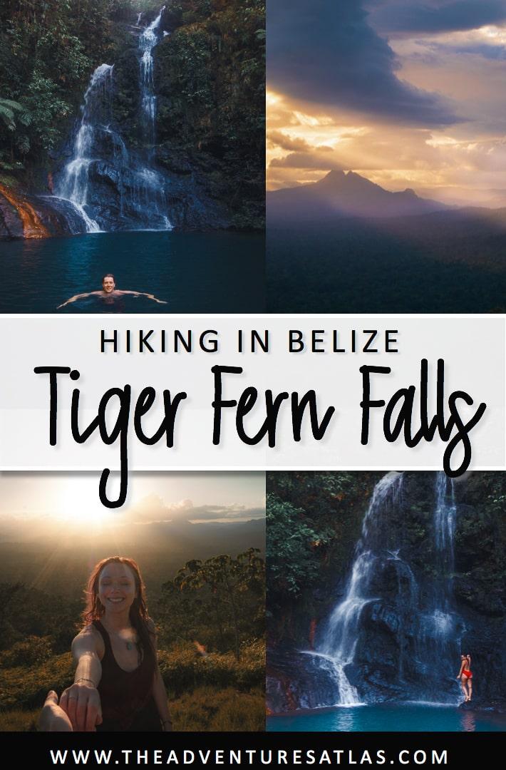 Hiking in Belize Tiger Fern Falls