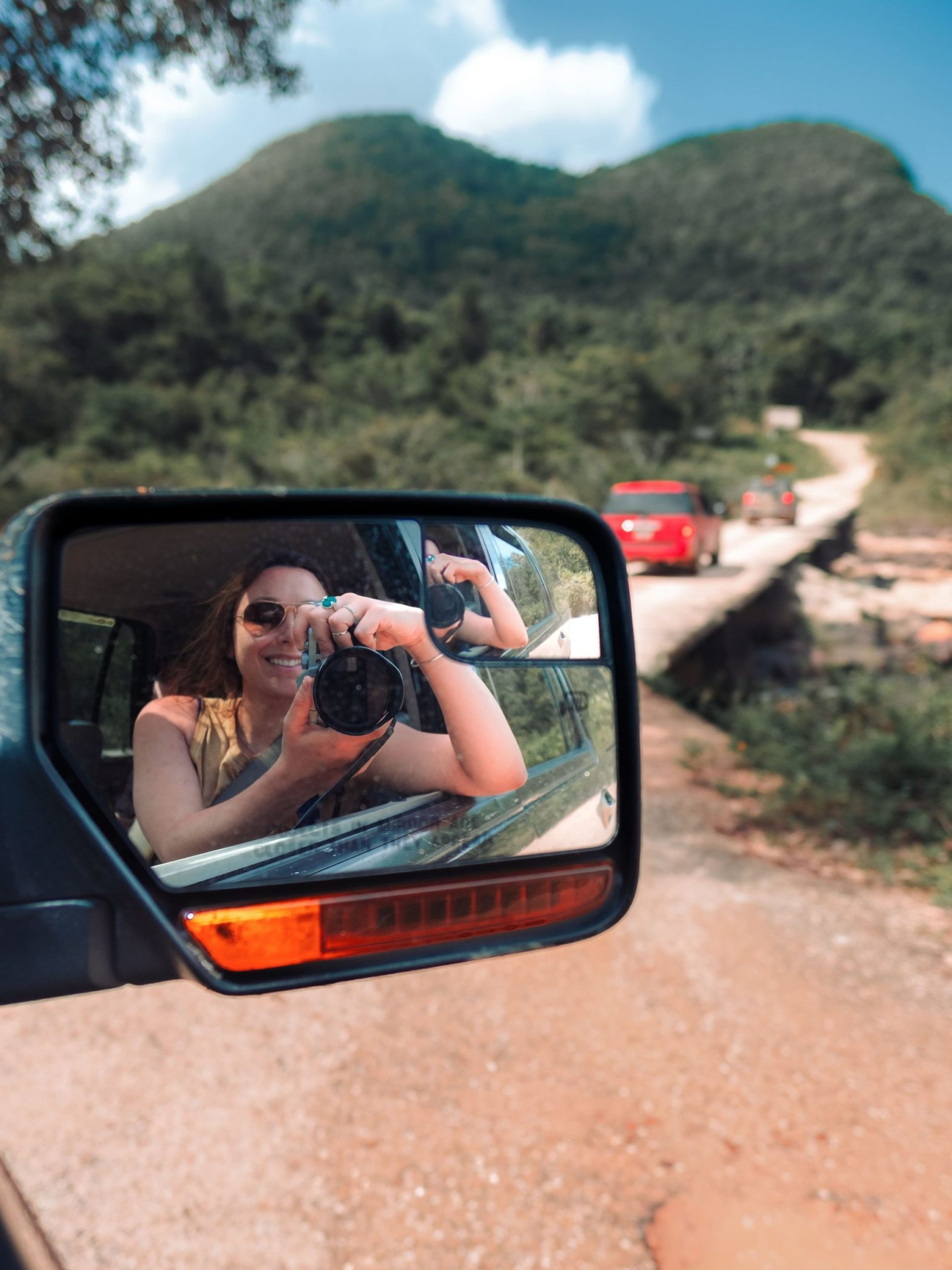 Rear view mirror photography