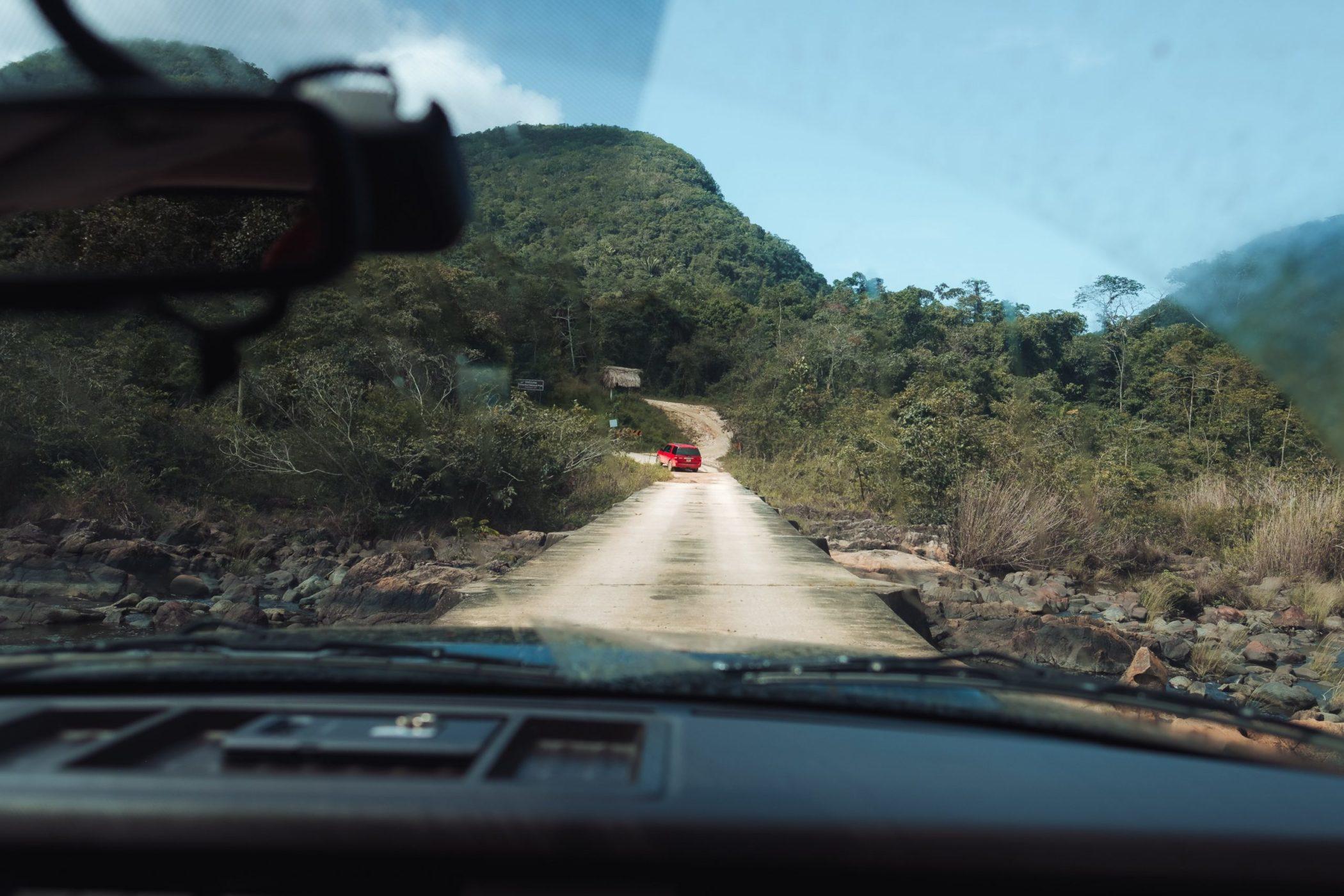 Driving through the Mountain Pine Ridge in Belize