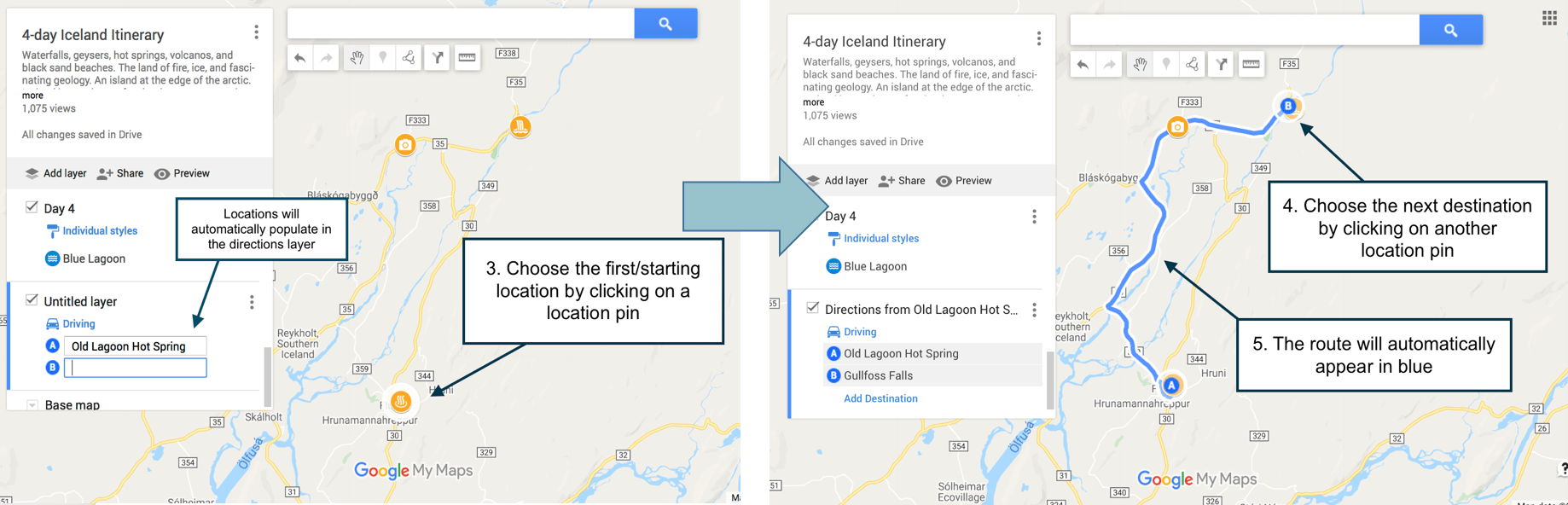 Calculate your driving route