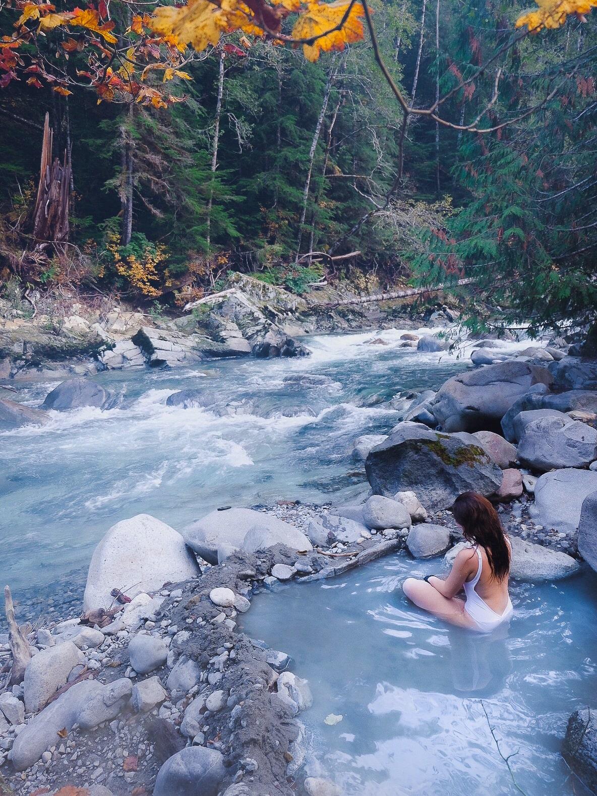 Unique hot springs in British Columbia, Canada