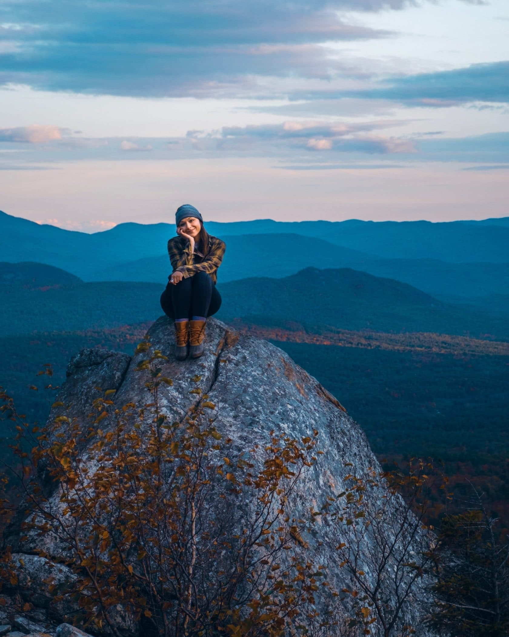 Easy hike to Cobble Lookout near Lake Placid
