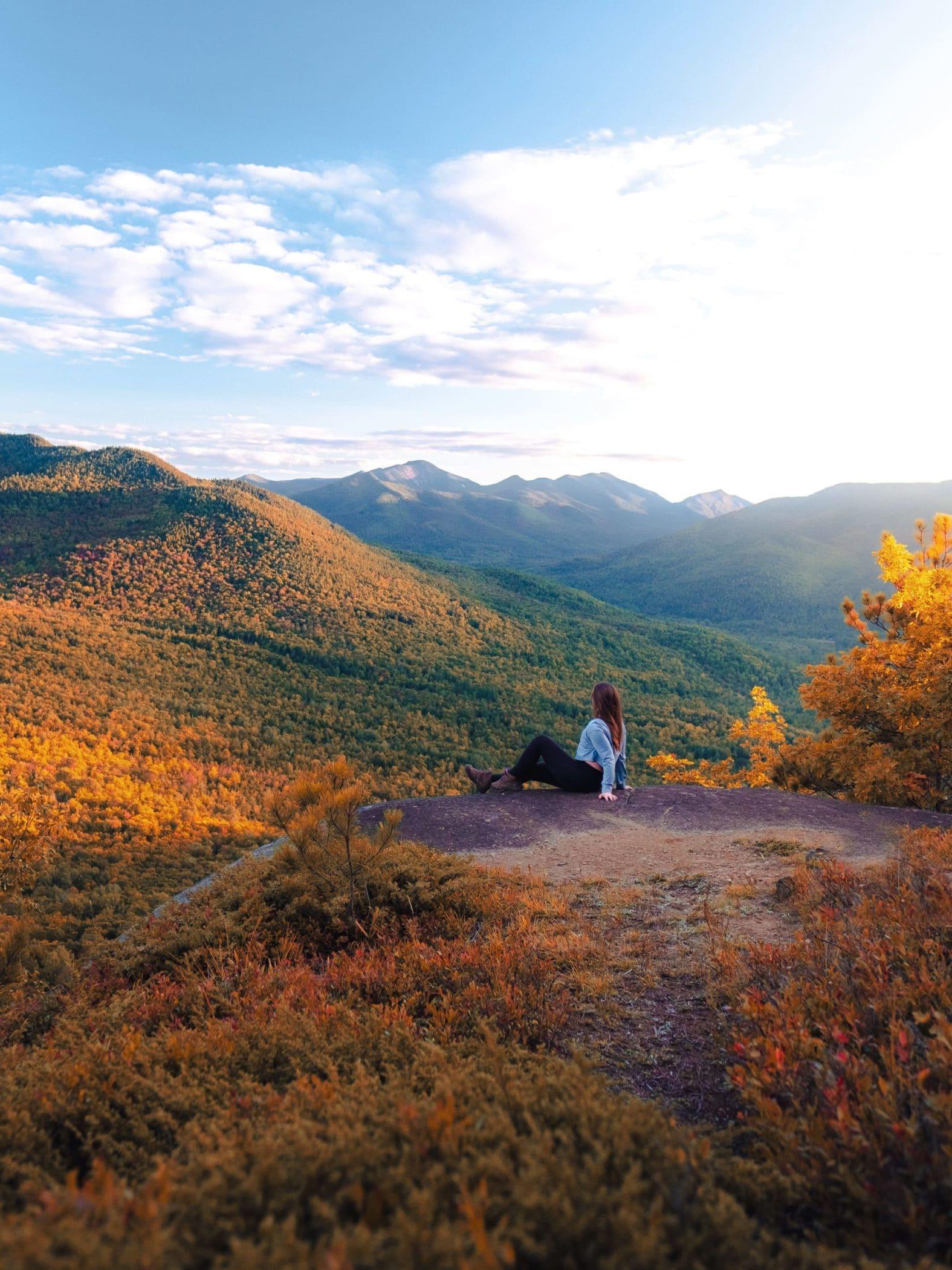 Baxter Mountain Summit at Sunset