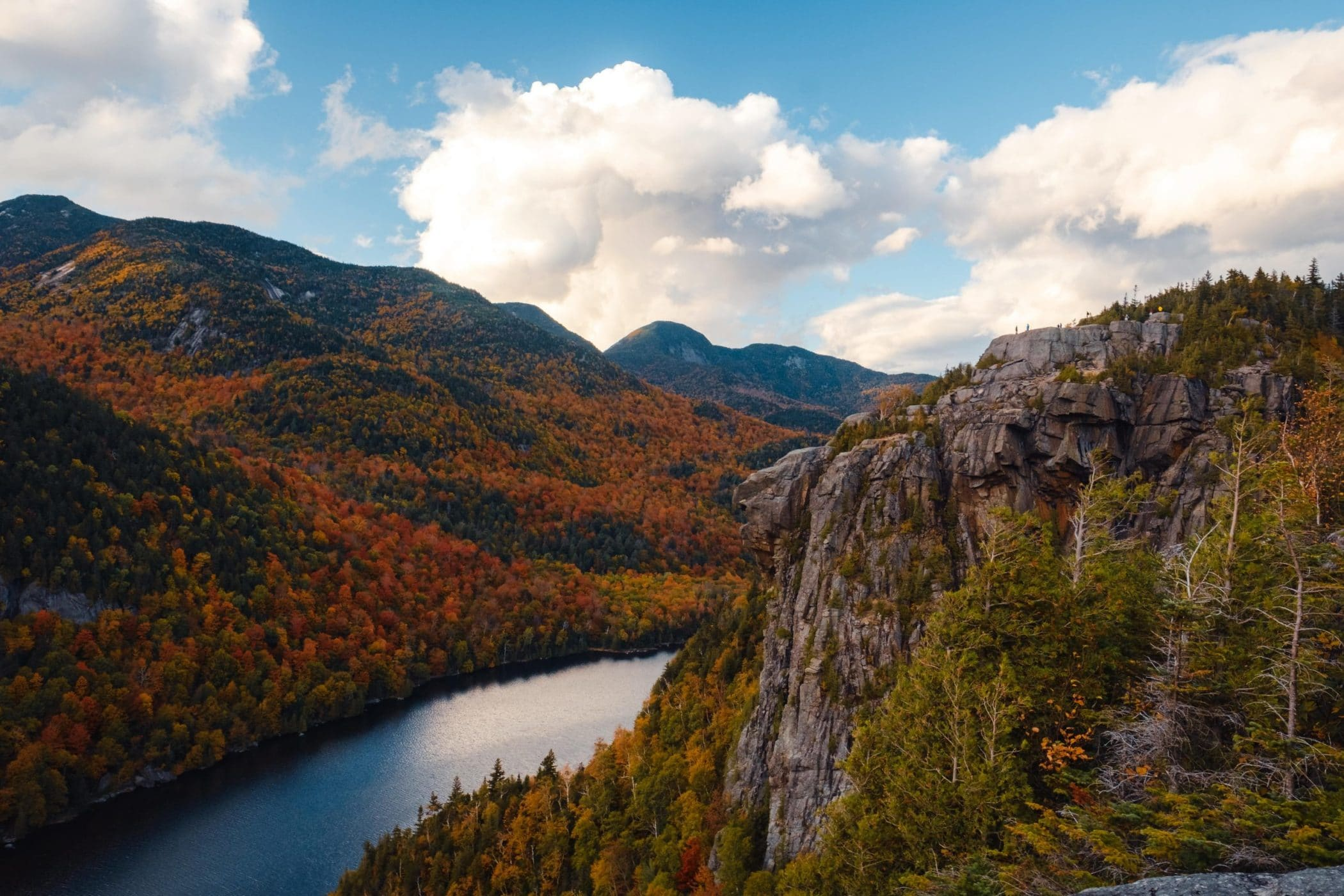 View from Fish Hawk Cliffs over Lower Ausable Lake, Adirondacks