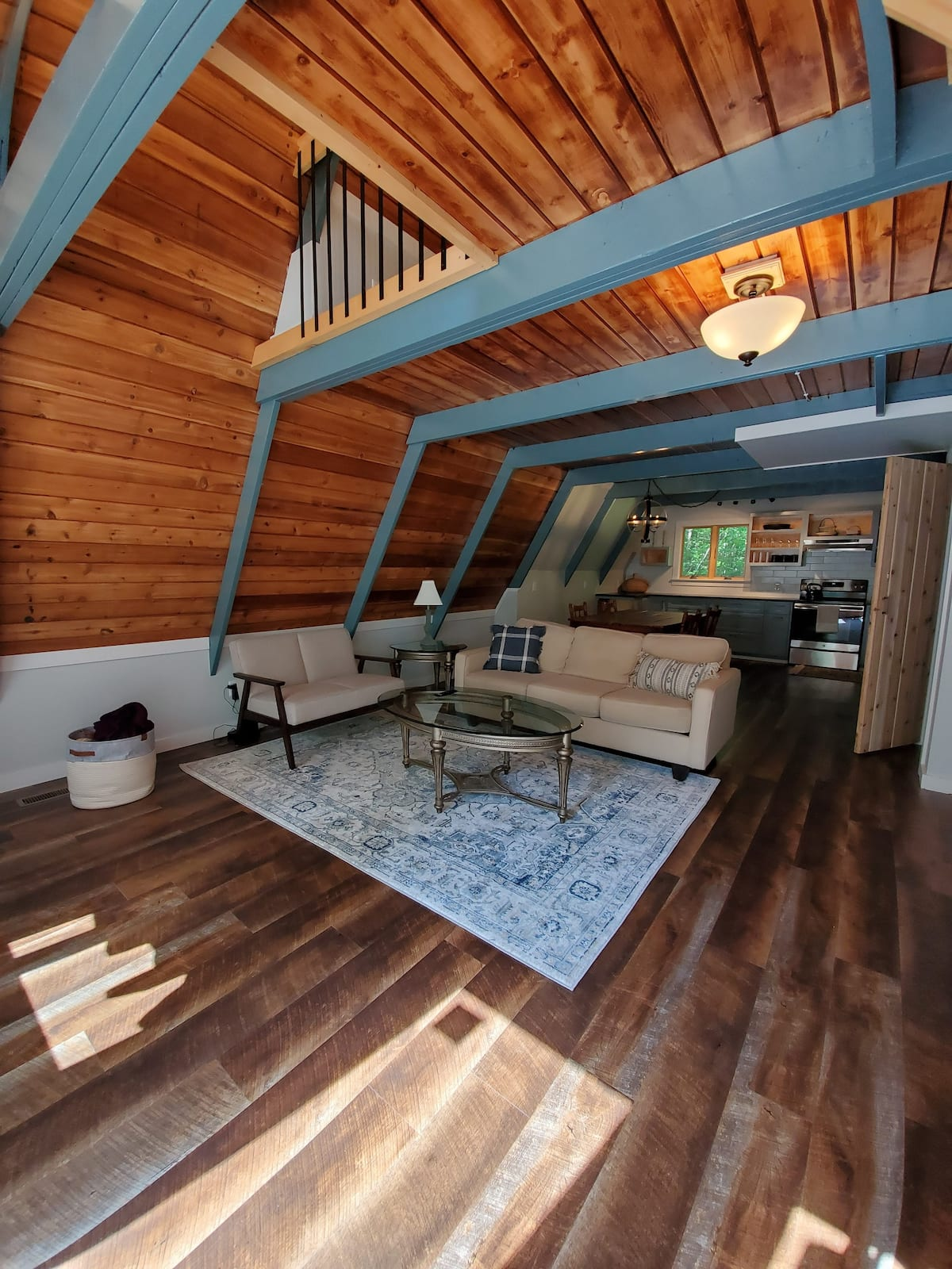 Adirondack Blue Jay A-Frame Interior