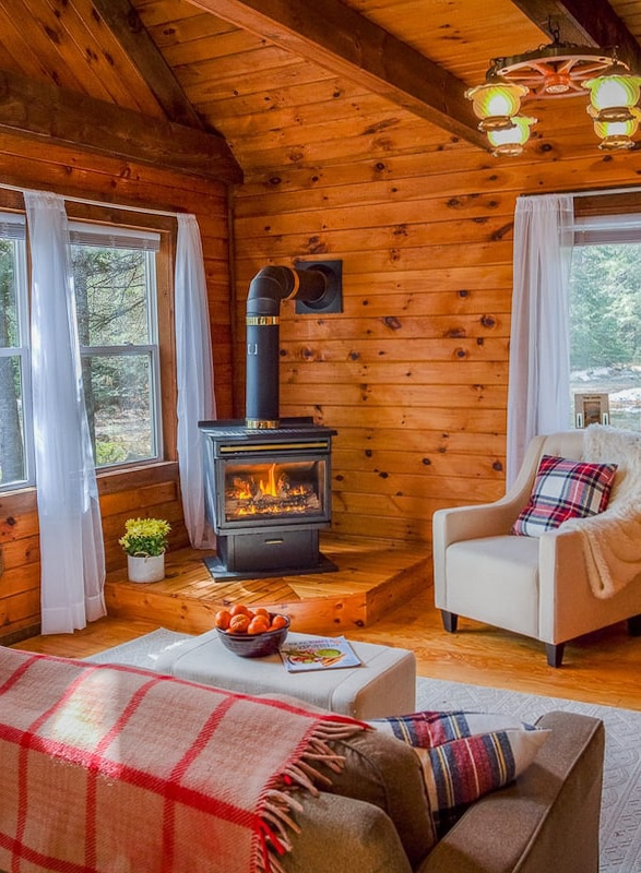 Schroon Lake secluded cabin interior