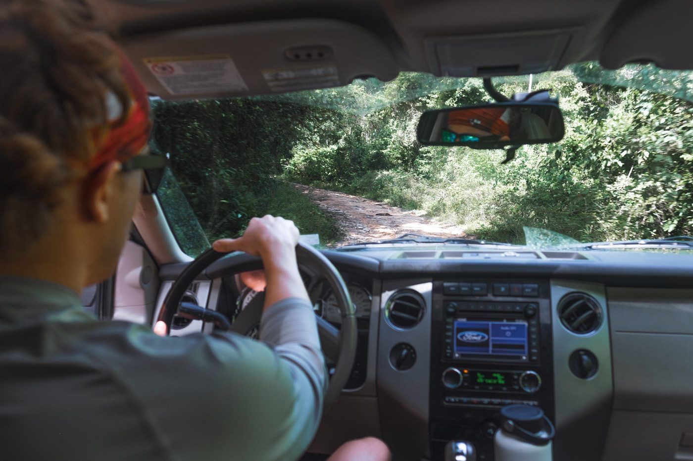 Driving to Mayan Ruins in Belize; second half of the drive on the road to Caracol