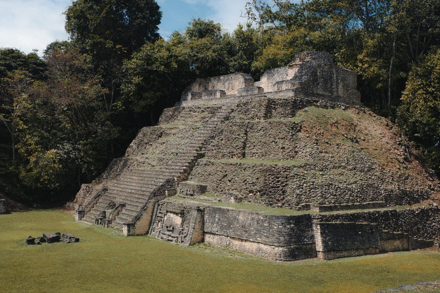 Pyramids of Caracol in Belize