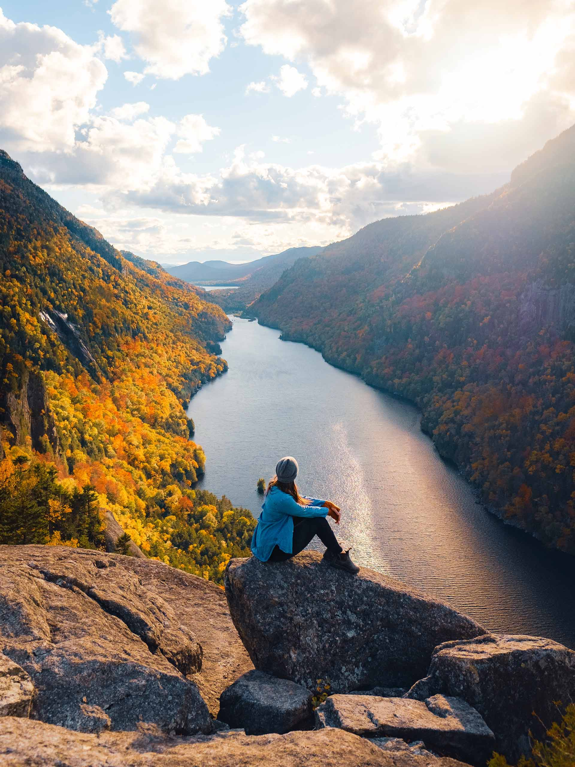 Sunset is the best time to hike Indian Head in Keene, NY