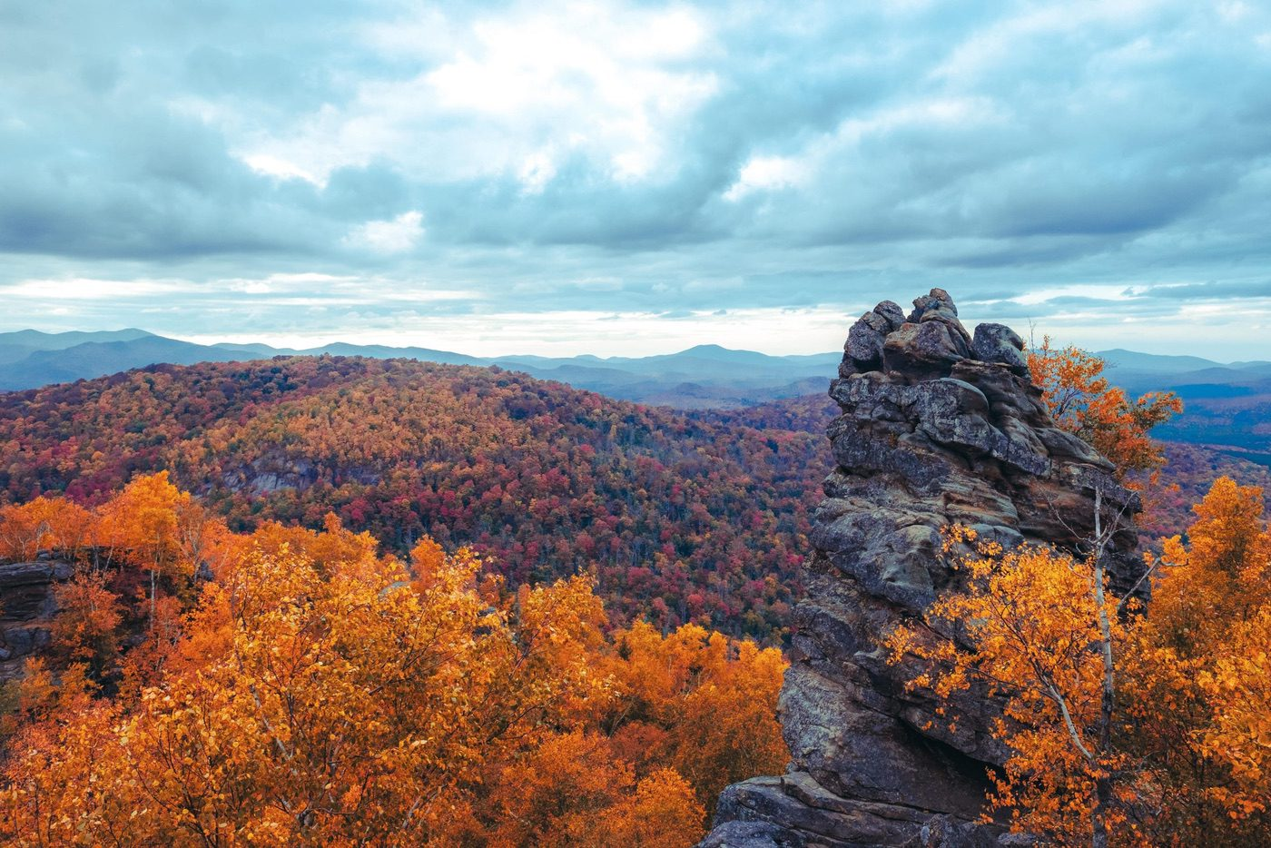 Summit of Chimney Mountain in the fall