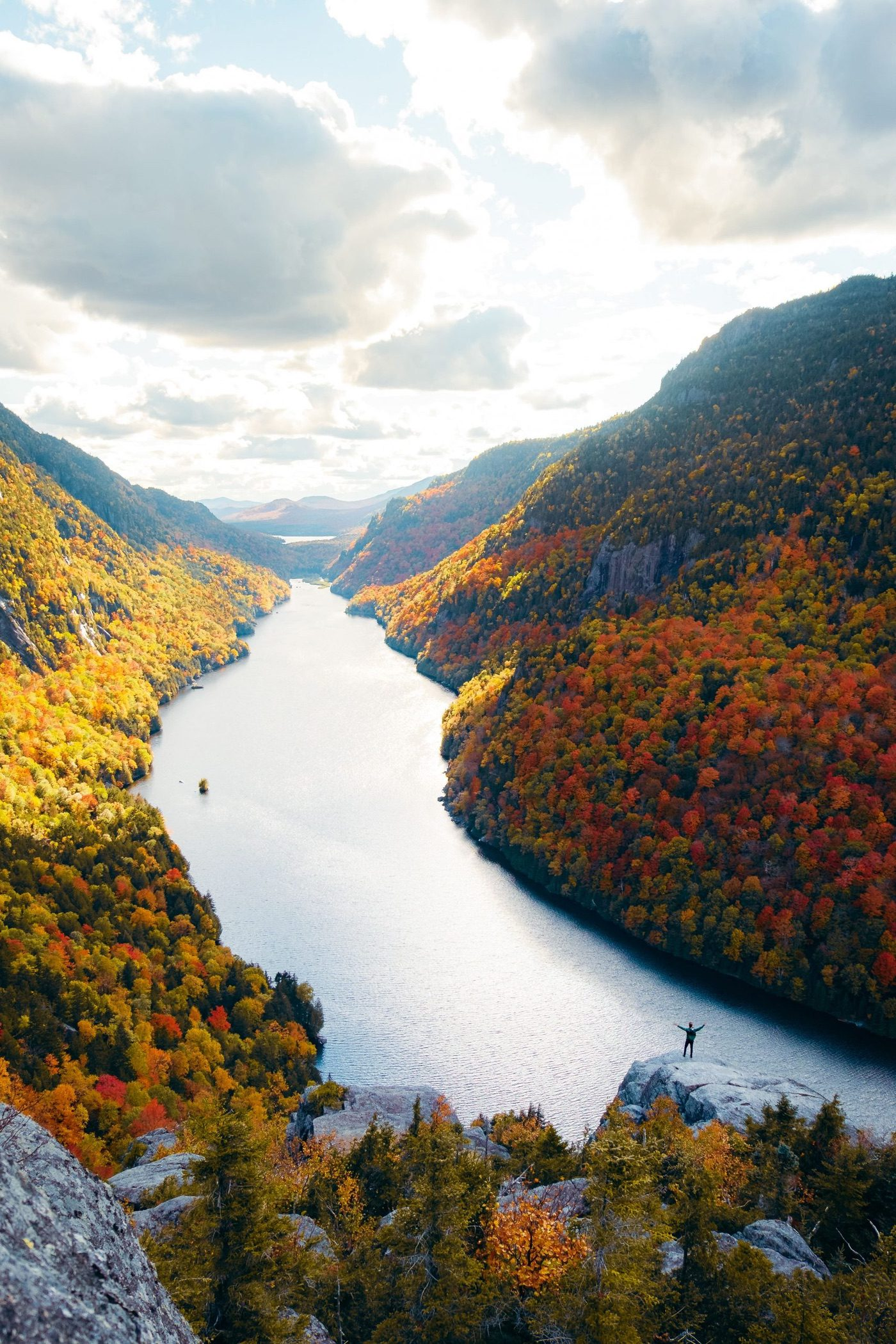 Indian Head overlook at Lower Ausable Lake, Adirondacks