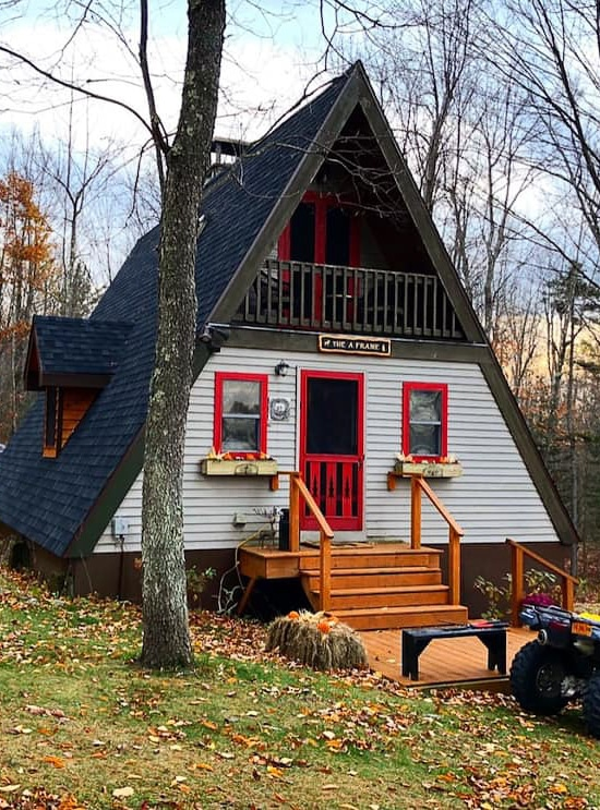 A-frame cabin rental in Upstate NY