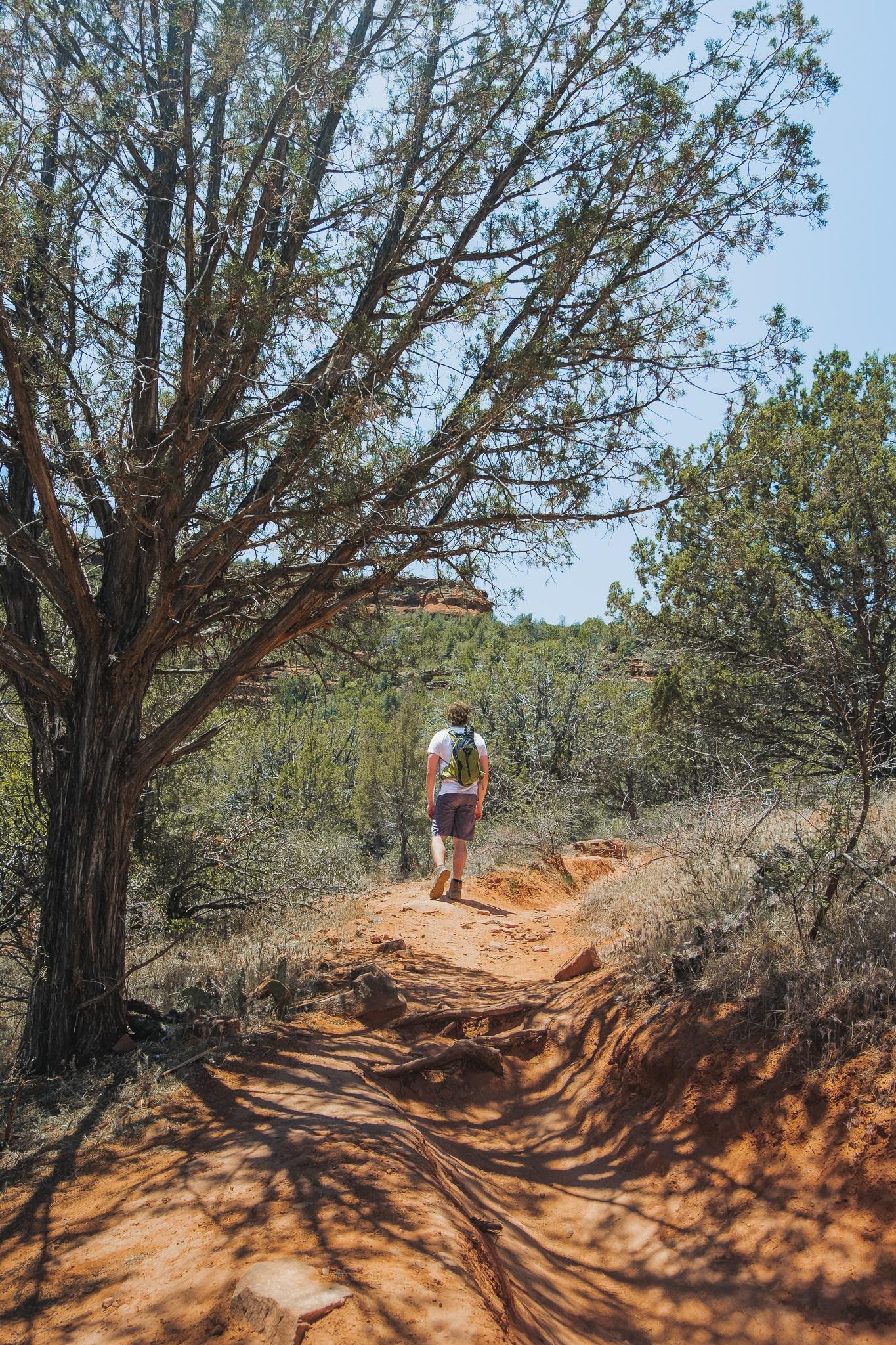 hiking through the desert in Sedona, Arizona