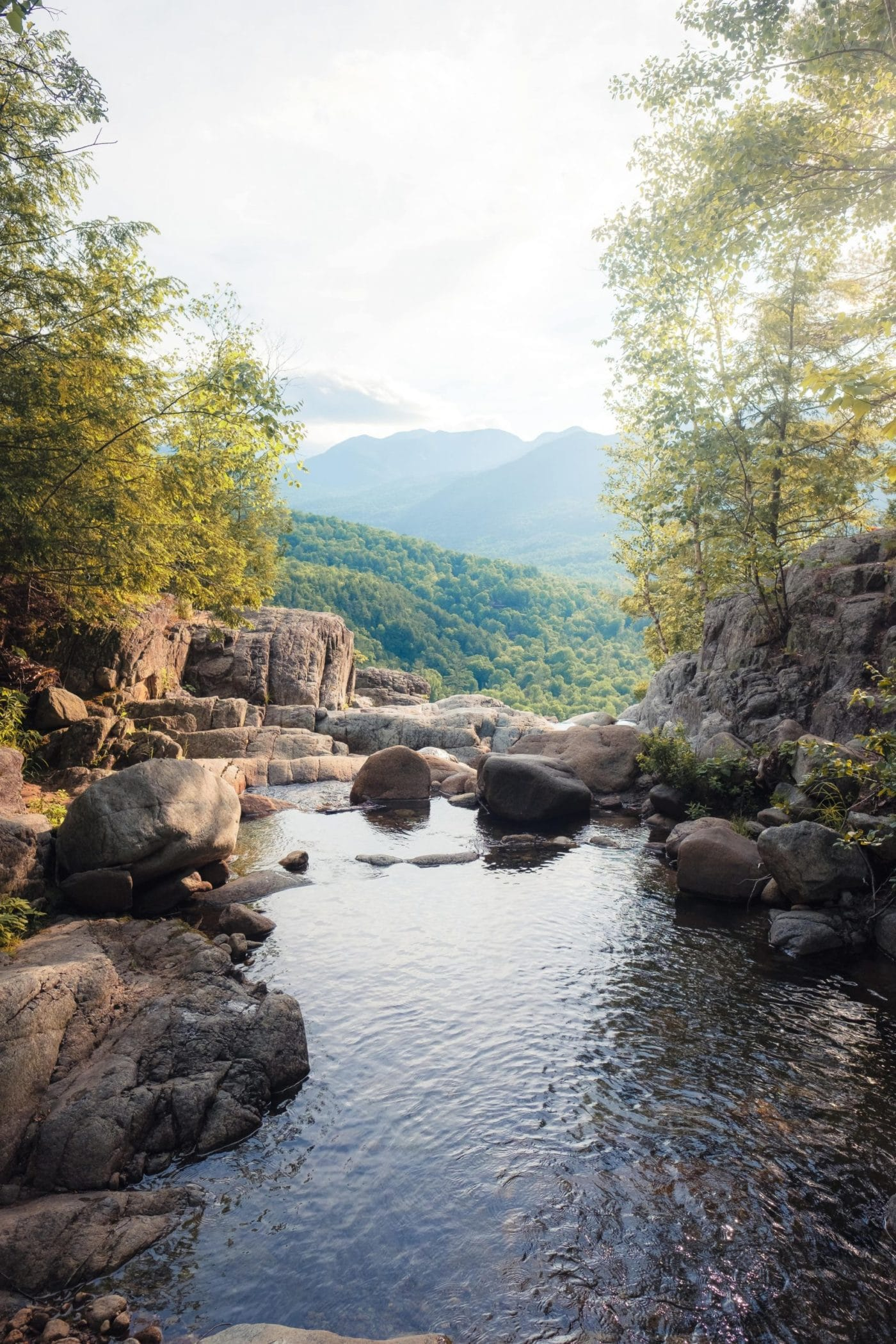 cold, freshwater river in the Adirondack Mountains