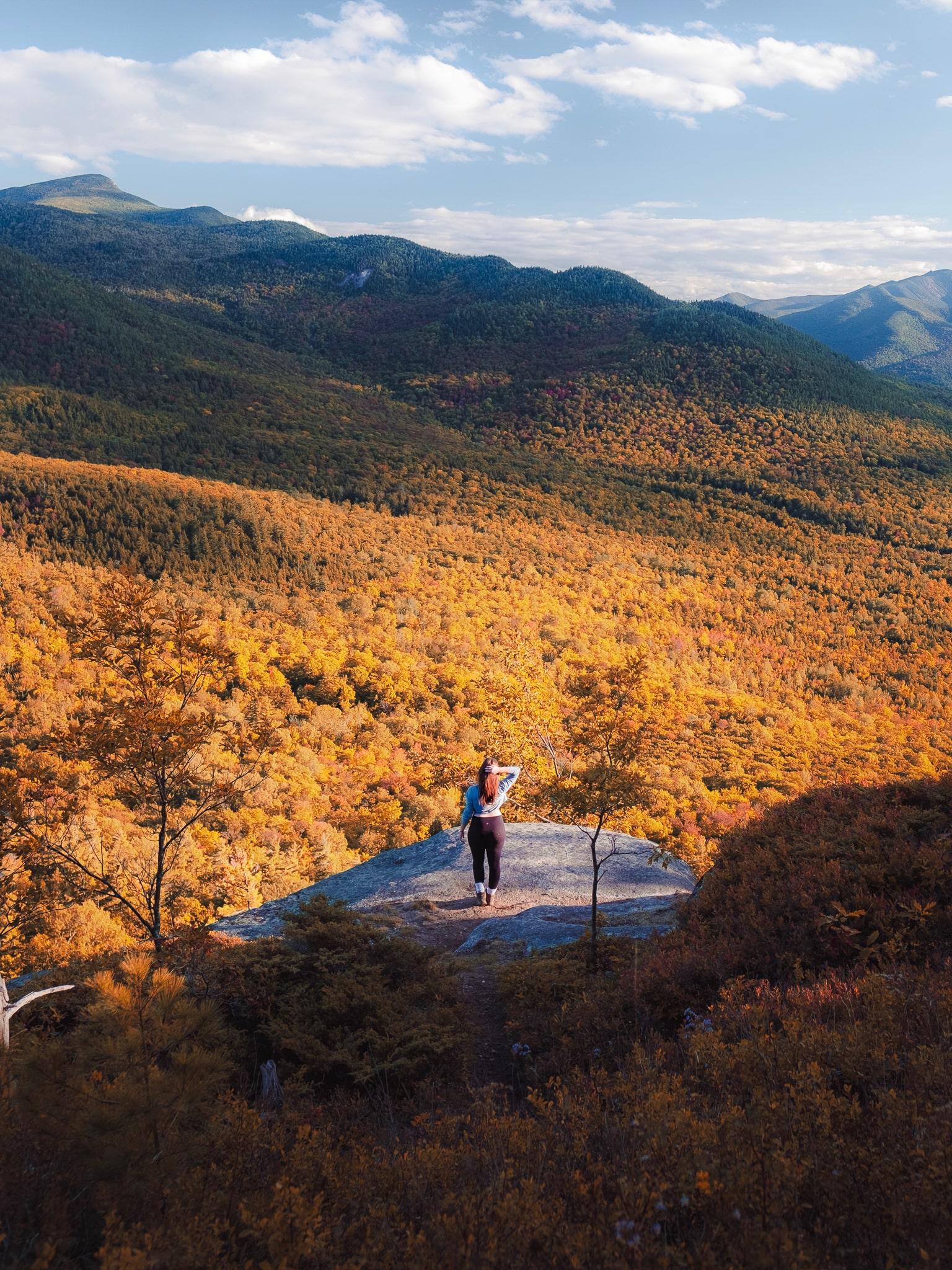 Hiking during fall in the Adirondacks