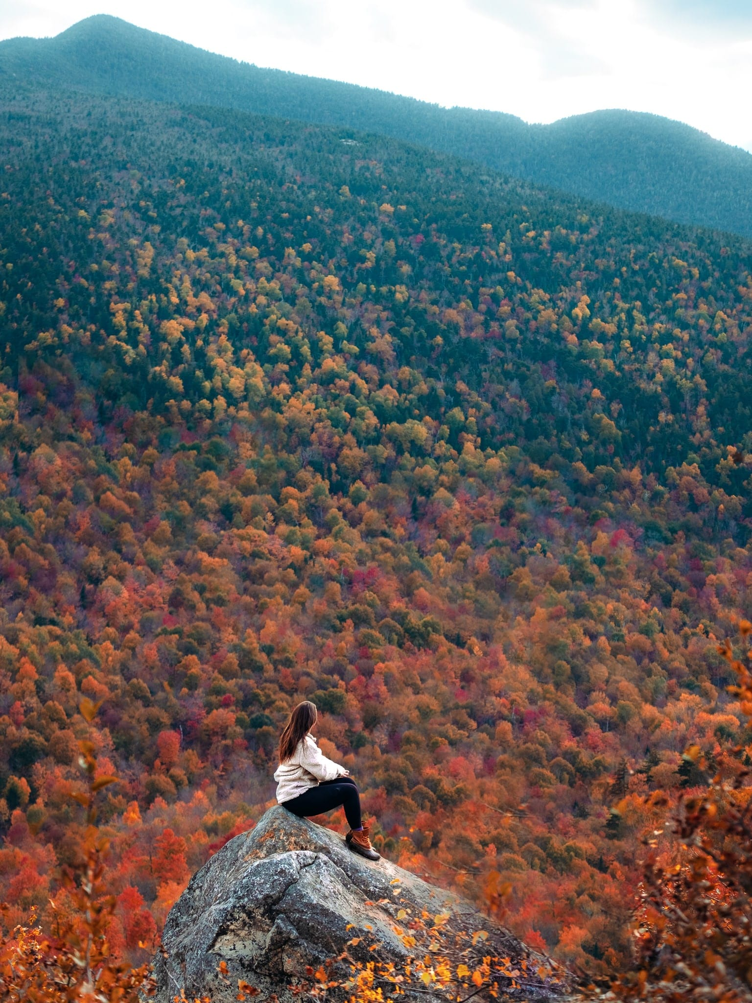 Hiking during fall in New York