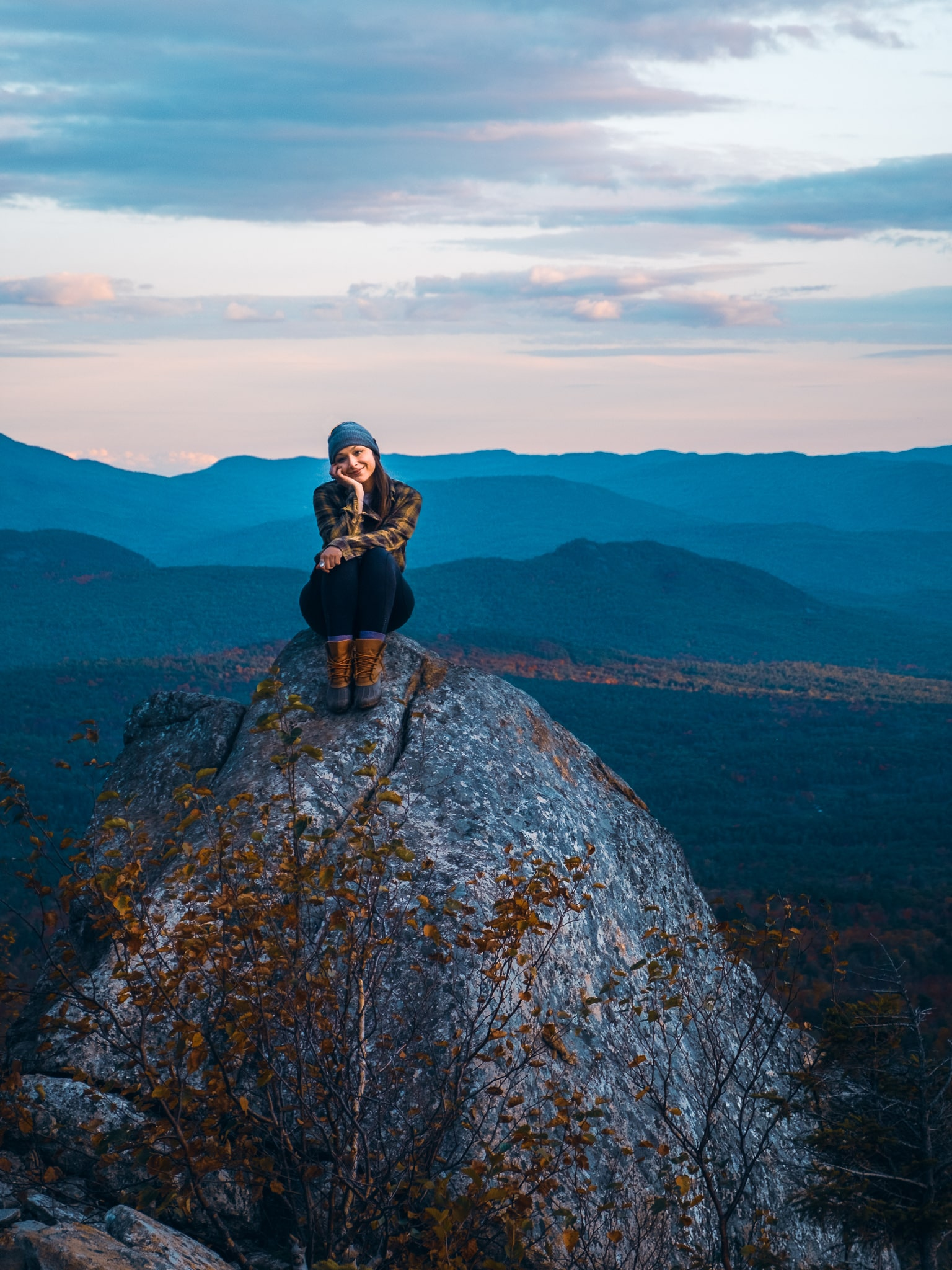Cobble Lookout summit, Wilmington, Adirondacks