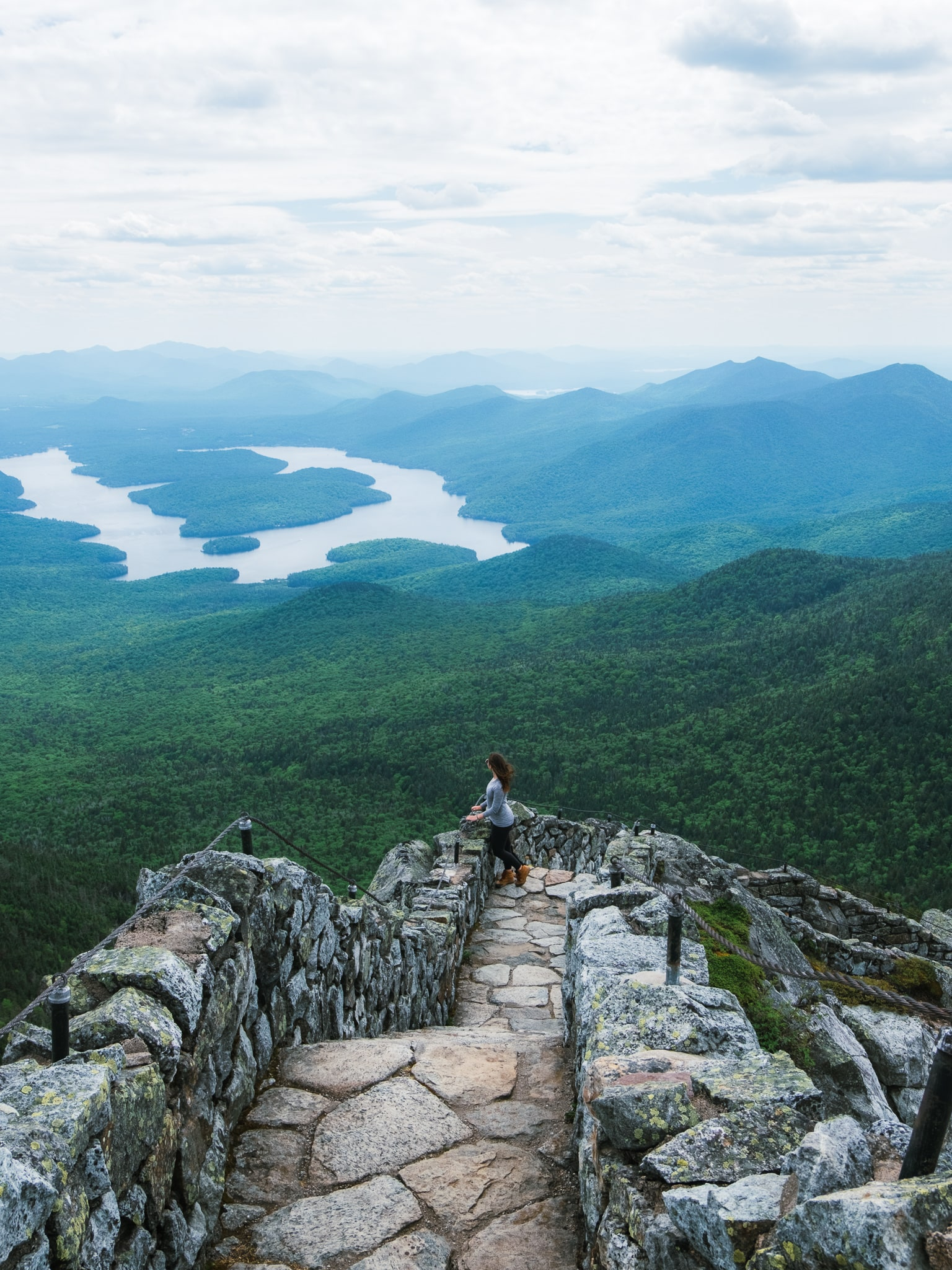 Whiteface Memorial Highway hike near Lake Placid, Adirondacks