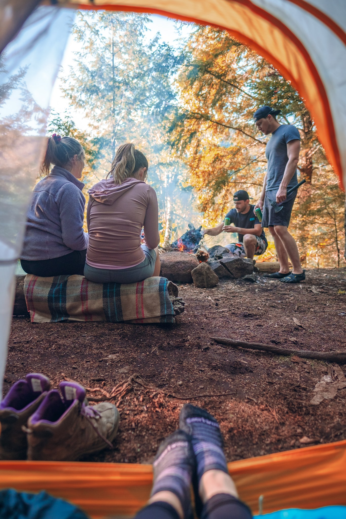 Camping in New York during the fall