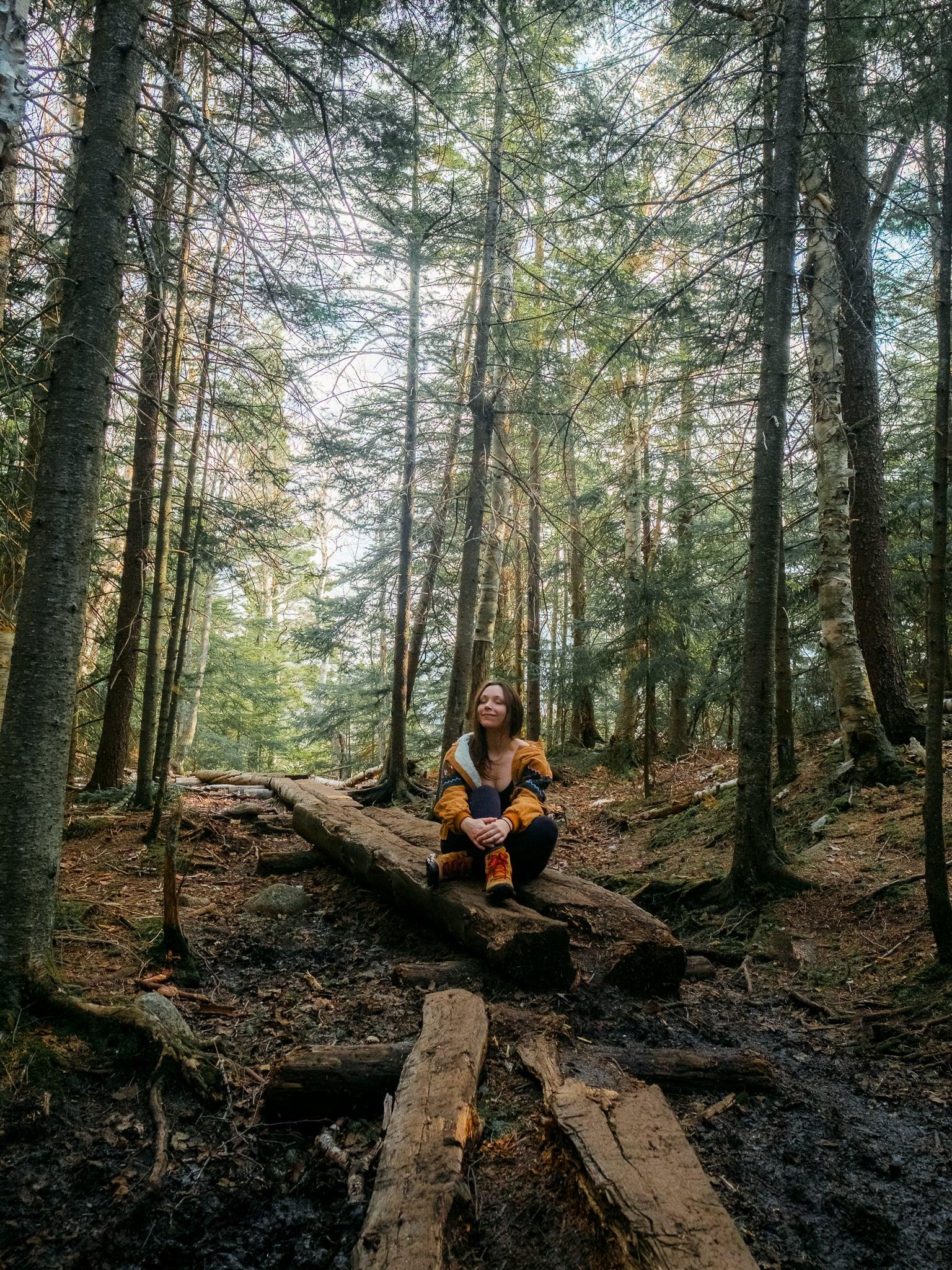 Mt. Jo hiking trail in Lake Placid