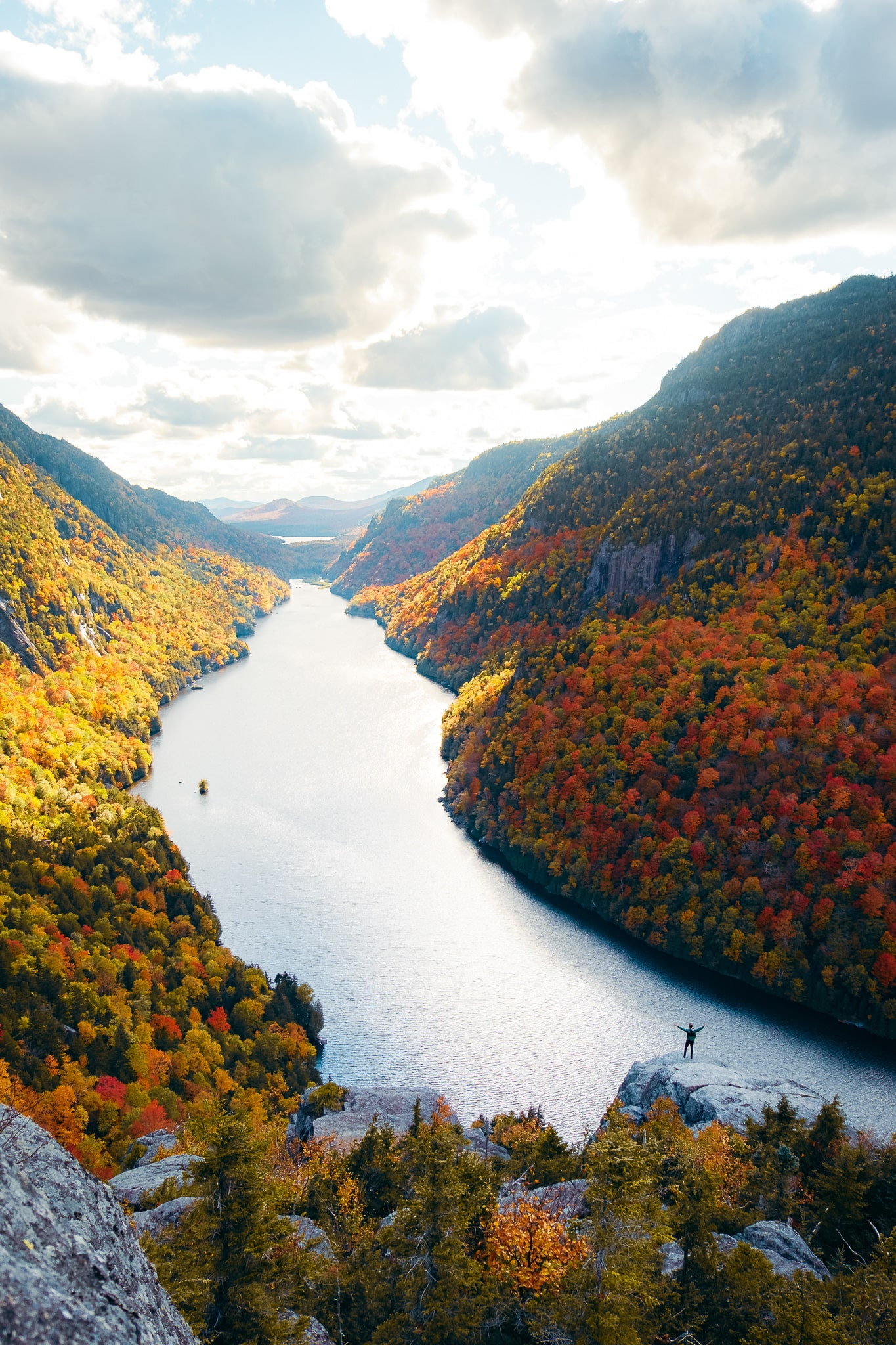 Indian Head during the fall in the Adirondacks, Upstate New York