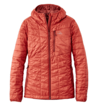 Packable down jacket for hiking