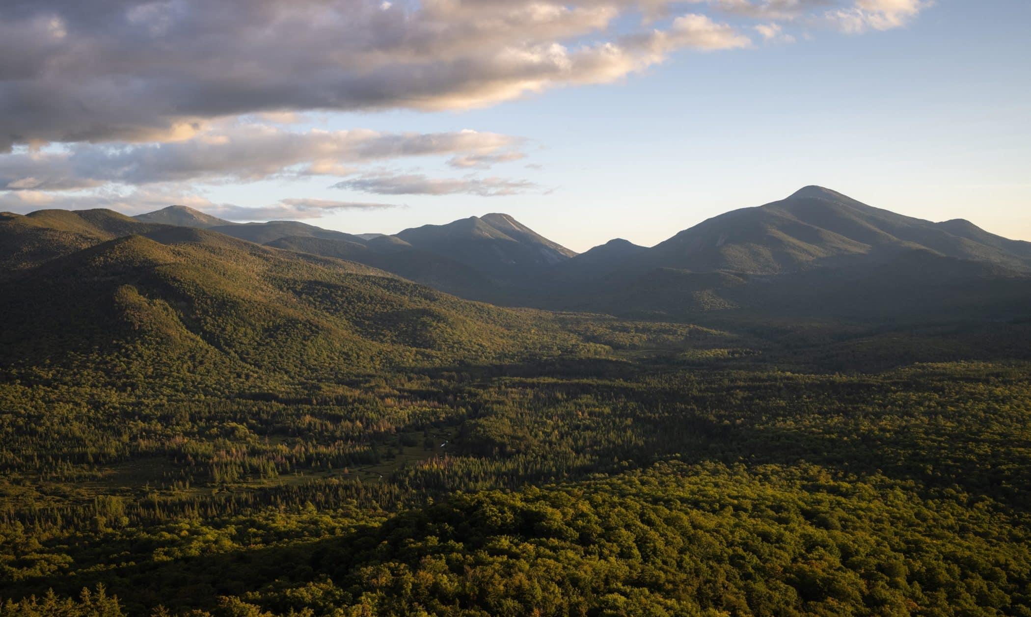 View from the summit of Mount Van Hoevenberg in Lake Placid, Adirondacks New York