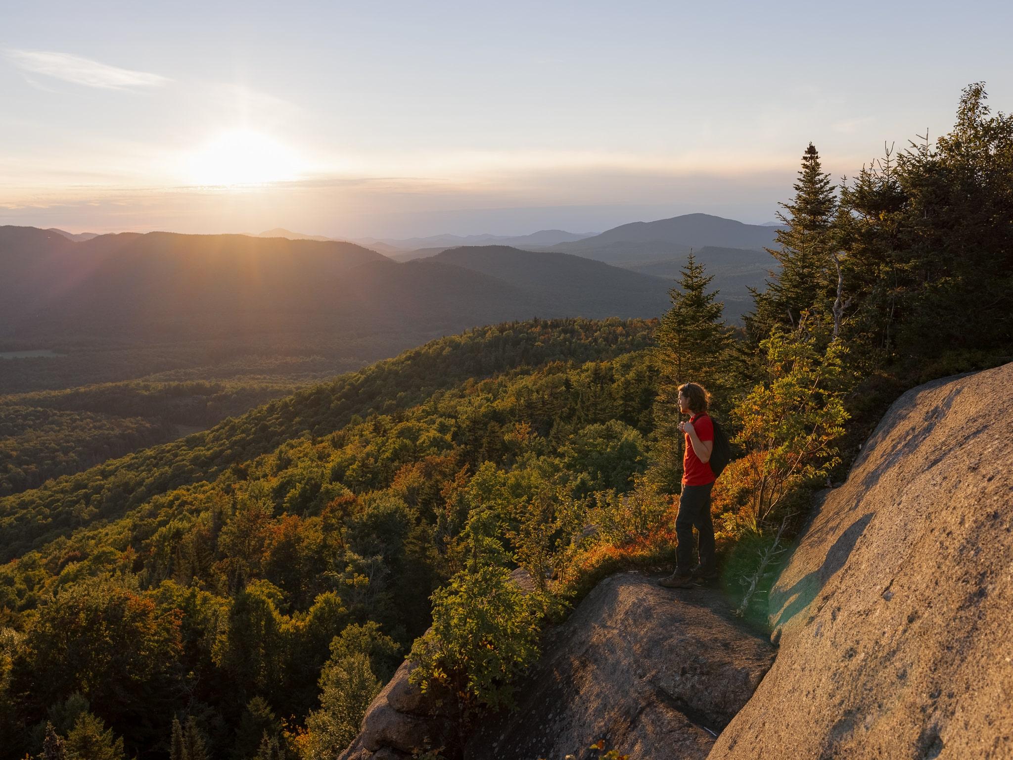 Ridge of Mt Van Hoevenberg West Trail near Lake Placid in the Adirondacks