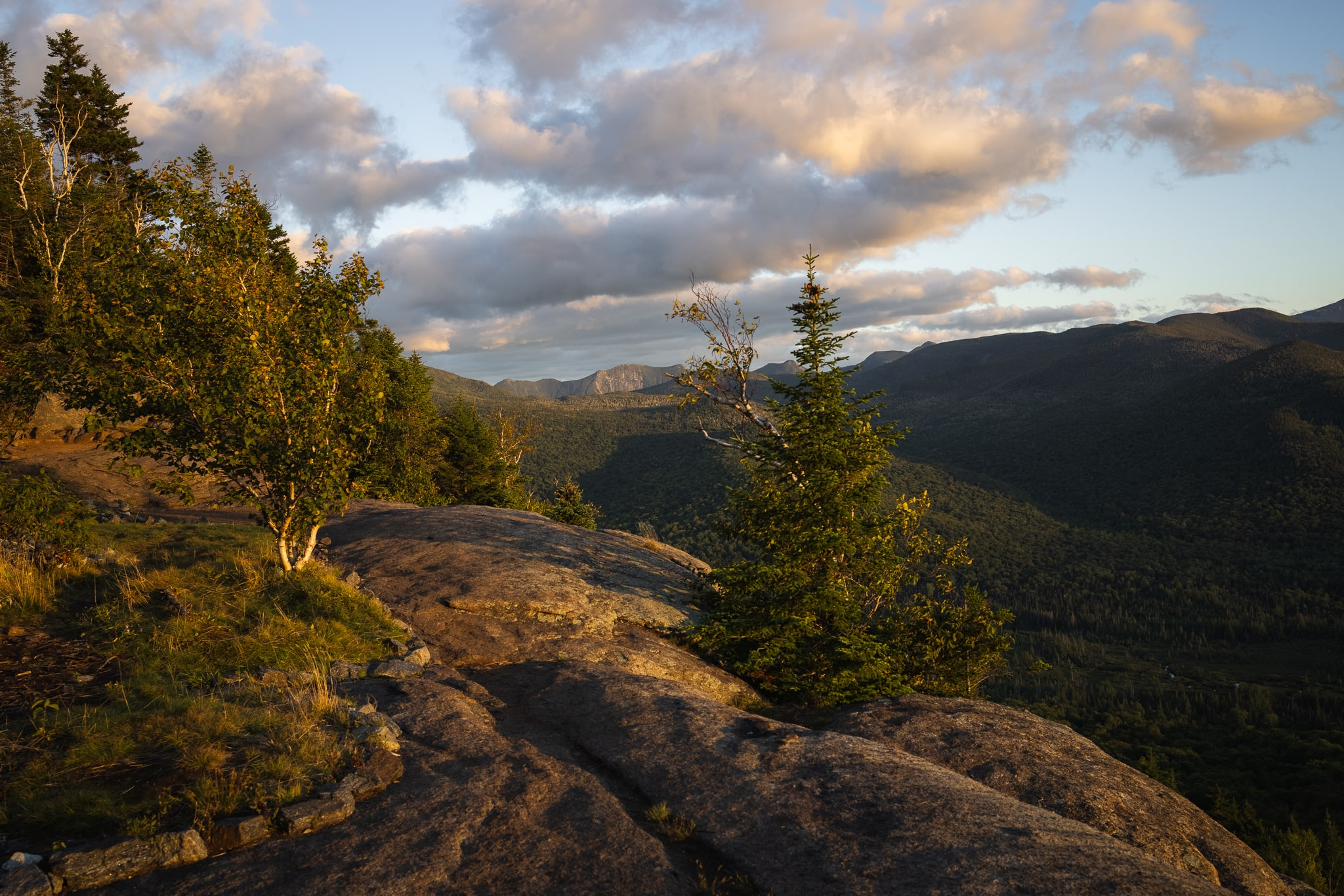 Hiking in the Adirondacks for sunset